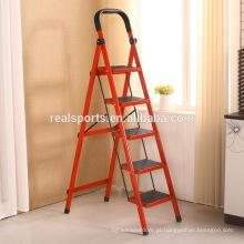 Escada de etapa Foldable de dobramento do agregado familiar da escada de etapa cinco