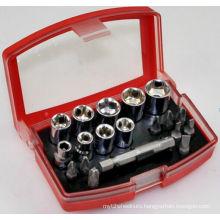 19 Pieces 25mm Screwdriver Bit Socket Set Hand Tools