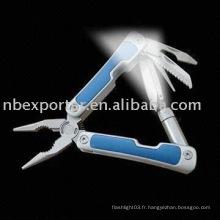BTEL1363 Multi-outil avec lampe de poche LED et poignée en aluminium