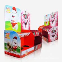 Prateleira de exibição de mostrador de exibição de ponto de compra personalizado, estojo de exibição de chocolate
