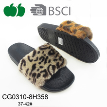 Lady Fashion Outdoor piatto leopardo Slipper Stampa