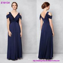 Elegante y elegante diseño albaricoque elegante vestido de noche encantador