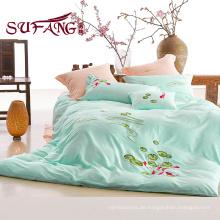 100% Baumwolle billige Bettwäsche 40S Stickerei