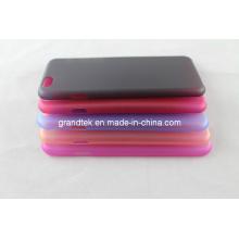 Cas dur en plastique épais épais transparent de couleur pour iPhone6
