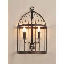 Contemporary Hotel Bedside Birdcage Wall Light (MB2001-2LRR)