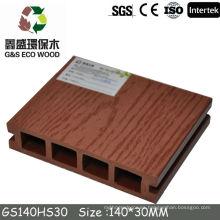 2016 Terraplén sólido WPC Terraza compuesta Plataforma plástica de madera