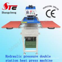 CE Certificate Automatic Hydraulic Pressure Double Station Heat Press Machine40*40cm Oil Pressure Heat Transfer Machine T-Shirt Printing Machine Stc-Yy01