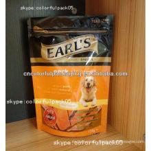 homemade dog food plastic zip lock packaging bag/wholesales DIY pet food packaging bags