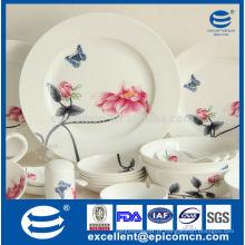 Conjunto de jantar de porcelana fina com pintura agradável