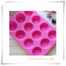 16 Cavity Oval Silicone Mold for Soap, Cake, Cupcake, Brownieand More (HA36019)