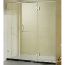 Large Vintage Shower Door with Top Frame Hinge Shower Door