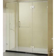 Porta grande do chuveiro do vintage com porta superior do chuveiro da dobradiça do quadro