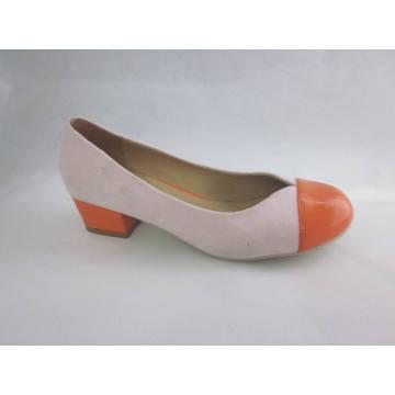 2016 moda salto alto chunky senhoras vestem sapatos (hyy03-096)