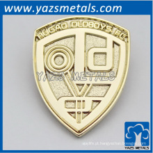 Custom metal gold nome placa moeda artesanato