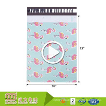 Popular Flamingo Designer Custom Logo Printed Strong Tamper Self Adhesive Shipping Use Poly Mailers 10X13