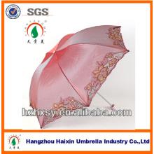 Mode faltbare Damen Stickerei Regenschirm