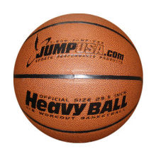 Heavyweight training basketball, synthetic leather cover, customer's design is welcome
