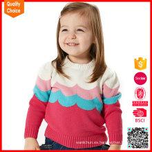 Knitwear lindo vendedor caliente del bebé de las muchachas de los cuadros