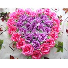 China fábrica diretamente artificial forma de estrela rosa flor grinalda para decoração de casamento