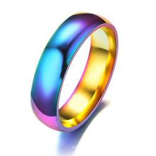 Regenbogen-Edelstahl-türkischer Mann-Ring-Verbündeter drücken preiswerten Großhandels-O-Ring aus