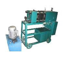 Rebar end upsetting machine