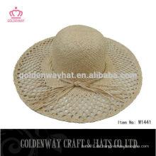 Großhandel Stroh Frauen Floppy Hüte mit hohlen