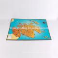 Poupées imprimées personnalisées anneaux de mariage catalogue relié spécial pliage carte du monde