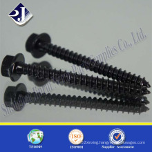 Black Zinc with Heat Treatment Wood Screw