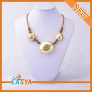 Collar de oro seda cuerda cadena collar de oro oro colgante, collar