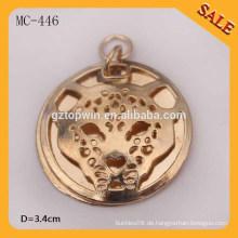 MC446 benutzerdefinierte geprägte Metall Etiketten / Hang Metall Etikett für Kleidung