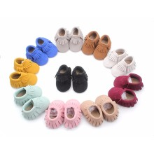 Mix Colors Leather Baby Moccasins Shoes Soft Sole