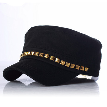 Punk Street Fashion Army Reviot Military Lady Cap