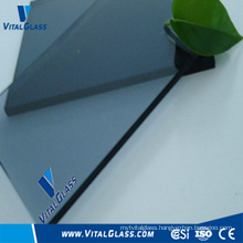 Blue Grey Plain Glass with CE& ISO9001