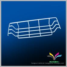 Divisão de metal de supermercado Dispõe de prateleira de cesta de arame pendurada