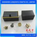 Profesional de lujo de metal de lujo gemelos de oro, hecho en China