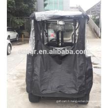 rideau de pluie de chariot de golf, manteau de pluie de chariot de golf, clôture pour le chariot de golf