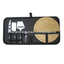 Cheese set with knife block