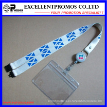 Lanyards de cuello impreso personalizado barato con titular de la tarjeta (EP-Y581417)