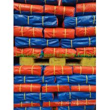Heavy-Duty Blue Orange PE Tarpaulin Sheet Tarpaulin