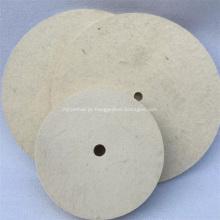 Roda de feltro de lã de polimento de cor branca