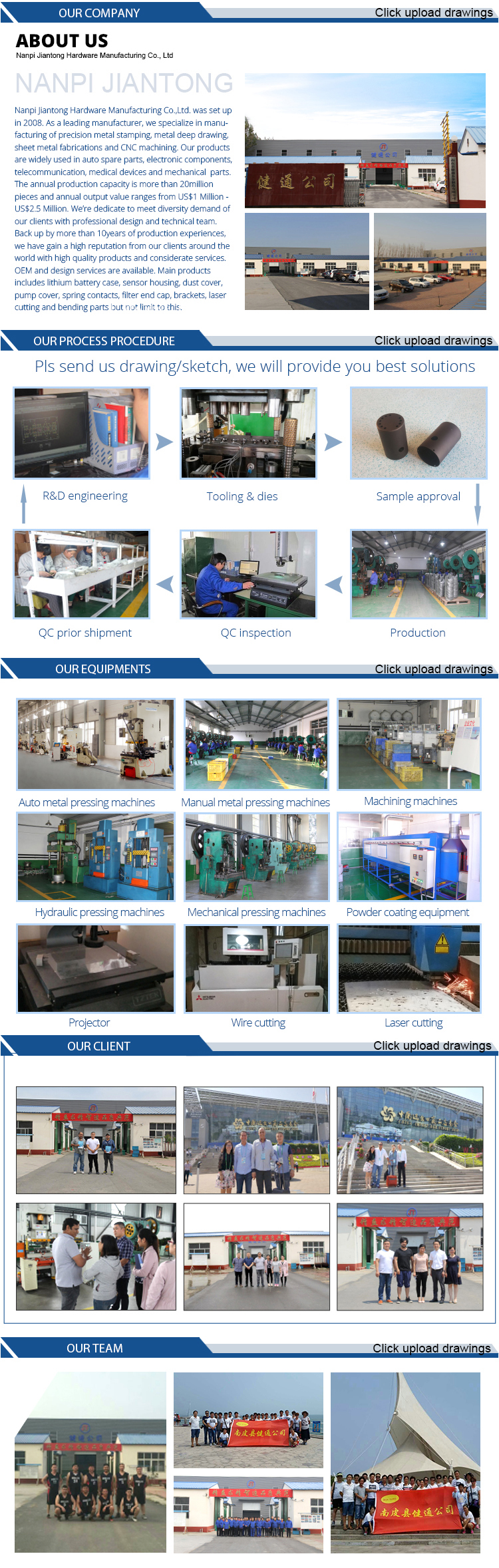 Sheet Metal Fabrication Forming Bending Welding Stamping