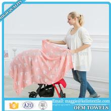 Couverture faite sur commande d'emmaillotage de mousseline de bébé de la fibre 47 * 47 de fibre de bambou de l'impression 100% de coutume