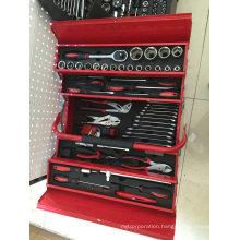 77PCS Red Metal Box Tools Set