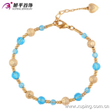 74318 Xuping top vendendo contas de plástico elegante, personalizado magnético fecho de ouro pulseira de talão