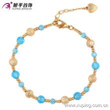 74318 Xuping лучшие продажи элегантный бусины пластиковые, индивидуальное магнитная застежка золото браслет из бисера