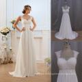 Tampa da luva francês do laço simples mas elegante vestido de noite do Chiffon