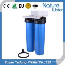 Sistema de purificador de agua azul grande de doble etapa