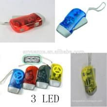 Mão manivela gerador mão dínamo lanterna, dínamo levou lanterna, mão prensagem lanterna