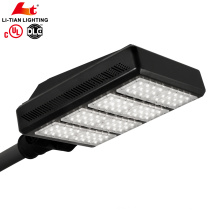 UL DLC High lumens emergency LED Street Lighting 200watt IP65 shoebox LED light with batteries battery