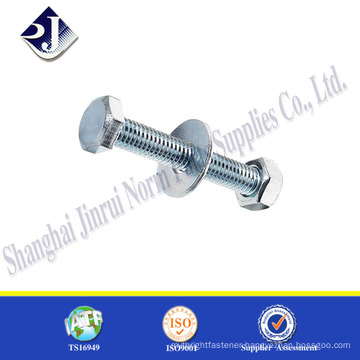 hardware supplies standard size zinc finished bolts and nuts